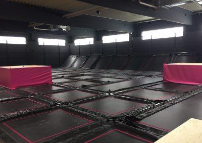 Trampolinpark Jump Galaxy Düsseldorf – Der Aufbau