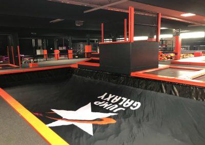 Trampolinpark Jump Galaxy Düsseldorf – Flächen und Bereiche